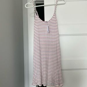 Striped spaghetti strap dress